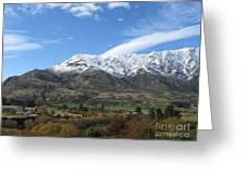 Remarkables Mountains Greeting Card