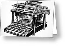 Remington Typewriter Greeting Card