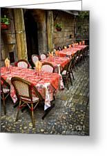 Restaurant Patio In France Greeting Card by Elena Elisseeva