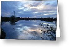 Riparian Sunset Greeting Card