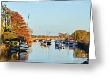 River Frome At Wareham Greeting Card