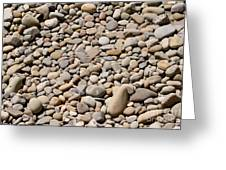 River Rocks Pebbles Greeting Card