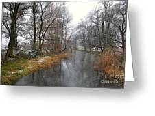 River With Snow Greeting Card