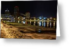 Rochester At Night Greeting Card