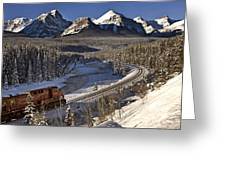 Rocky Mountains In Winter Greeting Card