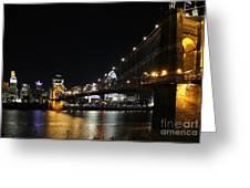Roebling Suspension Bridge 9939 Greeting Card