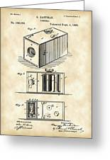 Roll Film Camera Patent 1888 - Vintage Greeting Card