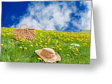 Rolling Dandelion Meadow Greeting Card