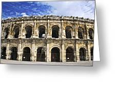 Roman Arena In Nimes France Greeting Card