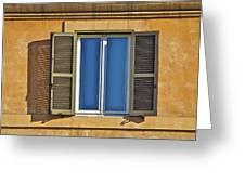 Roman Window Greeting Card