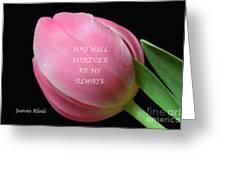 Romantic Pink Tulip Greeting Card