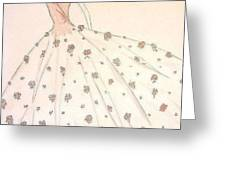 Rose Ball Gown   Greeting Card by Christine Corretti