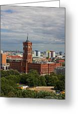 Rotes Rathaus Berlin Greeting Card
