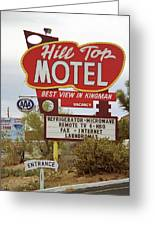 Route 66 - Hill Top Motel Greeting Card