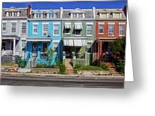 Row Houses In Washington D.c. Greeting Card