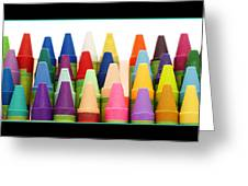 Rows Of Crayons Greeting Card