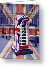 Royal Telephone Box Greeting Card by David French