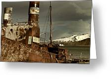 Rusted Whaling Boats Greeting Card by Amanda Stadther