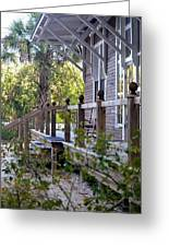 Rustic Country Front Porch Greeting Card