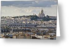 Sacre Coeur Over Rooftops Greeting Card