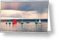 Sailing On Marine Lake A Reflection Greeting Card