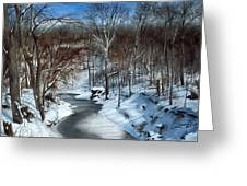 Same Creek Different Place Greeting Card by Denny Dowdy