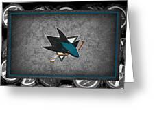San Jose Sharks Greeting Card