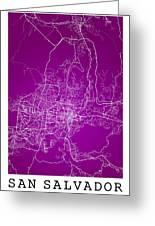 San Salvador Street Map - San Salvador El Salvador Road Map Art  Greeting Card