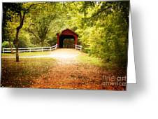 Sandy Creek Covered Bridge Greeting Card