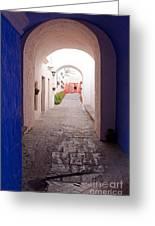 Santa Catalina Monastery Arequipa Peru Greeting Card