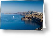 Santorini Caldera Greeting Card