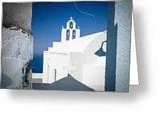 Santorini Church Greeting Card