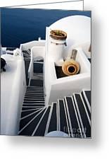 Santorini Steps Greeting Card