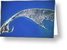 Satellite View Of Cape Cod National Greeting Card