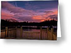 Sawmill Lake Sunset Greeting Card by Michael J Bauer