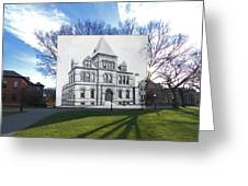 Sayles Hall At Brown University In Providence Rhode Island Greeting Card