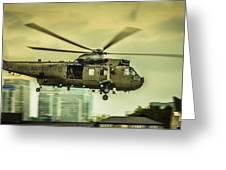 Sea King Helicopter Greeting Card