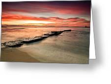 Sea Sunrise Greeting Card
