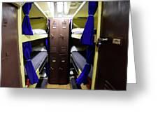 Seaman Lockers And Bunks Aboard Uss Greeting Card