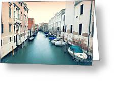 Secluded Canal In Venice Greeting Card