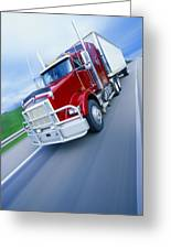 Semi-trailer Truck Greeting Card