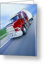 Semi-trailer Truck Greeting Card by Don Hammond