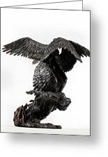Seraph Angel A Religious Bronze Sculpture By Adam Long Greeting Card