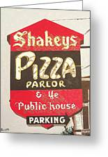 Shakey's Pizza Greeting Card