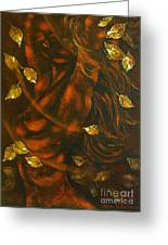 She...autumn Greeting Card by Elena  Constantinescu