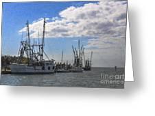 Shrimp Boats On Shem Creek Greeting Card