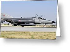 Side View Of A Turkish Air Force Greeting Card