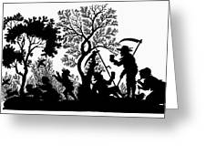 Silhouette Daily Life Greeting Card
