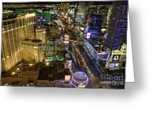 Sin City Greeting Card by Eddie Yerkish