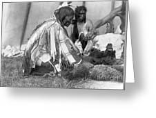 Sioux Medicine Man, C1907 Greeting Card